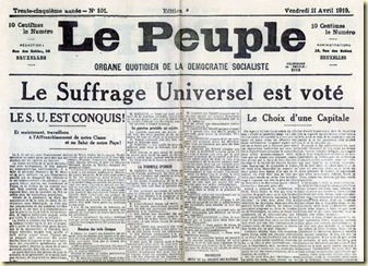 Vote du suffrage universel